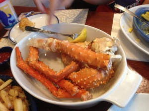 Crab legs...bleah...where are my biscuits???